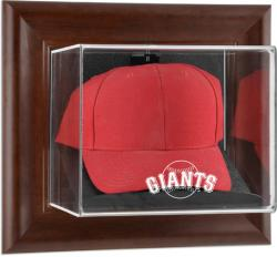 San Francisco Giants Brown Framed Wall-Mounted Logo Cap Case - Mounted Memories