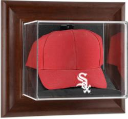 Chicago White Sox Brown Framed Wall-Mounted Logo Cap Case - Mounted Memories