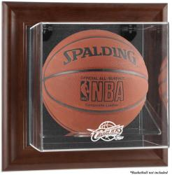 Cleveland Cavaliers Brown Framed Wall-Mounted Team Logo Basketball Display Case