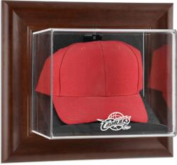 Cleveland Cavaliers Team Logo Brown Framed Wall-Mounted Cap Case