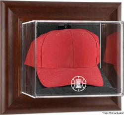 Los Angeles Clippers Team Logo Brown Framed Wall-Mounted Cap Case