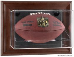 Brown Framed Wall-Mountable Logo Football Case - Mounted Memories