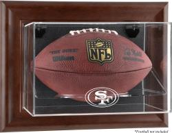 San Francisco 49ers Brown Football Display Case - Mounted Memories
