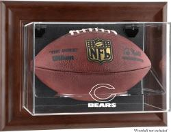 Chicago Bears Football Display Case - Brown - Mounted Memories