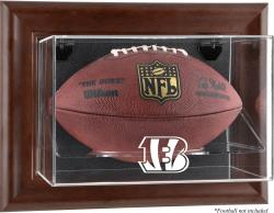 Cincinnati Bengals Football Display Case - Brown - Mounted Memories