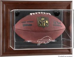 Buffalo Bills Football Display Case - Brown - Mounted Memories