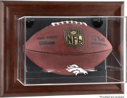 Denver Broncos Brown Football Display Case - Mounted Memories