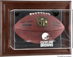 Cleveland Browns Football Display Case - Brown - Mounted Memories