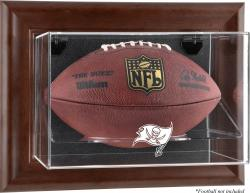 Tampa Bay Buccaneers Brown Football Display Case - Mounted Memories