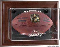 San Diego Chargers Brown Football Display Case - Mounted Memories