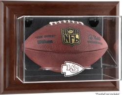 Kansas City Chiefs Brown Football Display Case - Mounted Memories