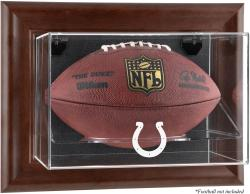 Indianapolis Colts Brown Football Display Case - Mounted Memories