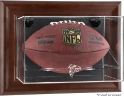 Atlanta Falcons Football Display Case - Brown - Mounted Memories