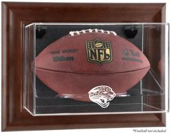 Jacksonville Jaguars Brown Football Display Case - Mounted Memories