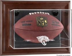 Jacksonville Jaguars Brown Framed Wall-Mountable Football Case - Mounted Memories