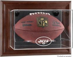 New York Jets Brown Football Display Case Wall-Mountable