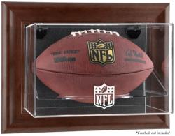 NFL Brown Framed Wall-Mountable Football Logo Display Case - Mounted Memories
