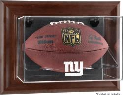 New York Giants Brown Football Display Case - Mounted Memories