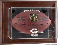 Green Bay Packers Brown Football Display Case - Mounted Memories