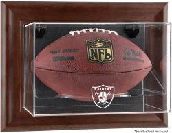 Oakland Raiders Brown Football Display Case - Mounted Memories