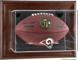 St. Louis Rams Brown Football Display Case - Mounted Memories