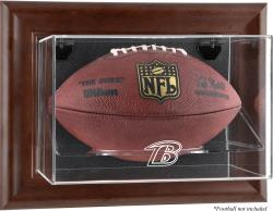 Baltimore Ravens Football Display Case - Brown - Mounted Memories