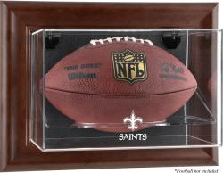 New Orleans Saints Brown Football Display Case - Mounted Memories