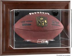 Seattle Seahawks Brown Football Display Case - Mounted Memories