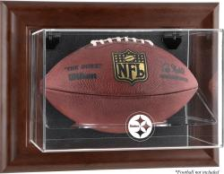 Pittsburgh Steelers Brown Football Display Case - Mounted Memories