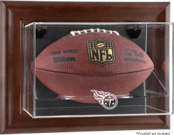 Tennessee Titans Brown Football Display Case - Mounted Memories