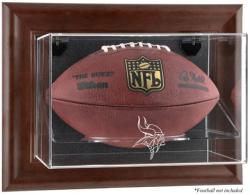 Minnesota Vikings Brown Football Display Case
