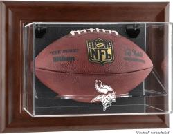 Minnesota Vikings Brown Framed Wall-Mountable Football Case - Mounted Memories