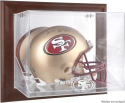 San Francisco 49ers Brown Framed Wall-Mountable Logo Helmet Case - Mounted Memories