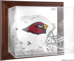 Arizona Cardinals Brown Framed Wall-Mountable Logo Helmet Case - Mounted Memories
