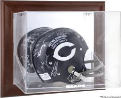 Chicago Bears Brown Framed Wall-Mountable Logo Helmet Case