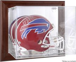 Buffalo Bills Brown Framed Wall-Mountable Logo Helmet Case - Mounted Memories