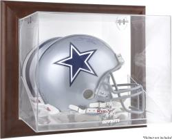 Dallas Cowboys Brown Framed Wall-Mountable Logo Helmet Case - Mounted Memories