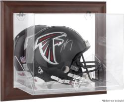 Atlanta Falcons Brown Framed Wall-Mountable Logo Helmet Case - Mounted Memories