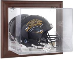 Jacksonville Jaguars Brown Framed Wall-Mountable Logo Helmet Case - Mounted Memories