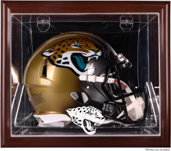 Jacksonville Jaguars Brown Framed Wall-Mountable Helmet Case