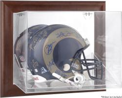St. Louis Rams Brown Framed Wall-Mountable Logo Helmet Case - Mounted Memories