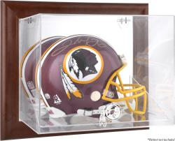 Washington Redskins Brown Framed Wall-Mountable Logo Helmet Case