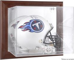 Tennessee Titans Brown Framed Wall-Mountable Logo Helmet Case - Mounted Memories