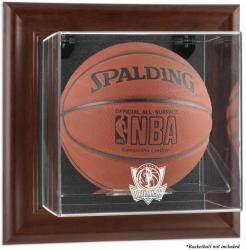 Dallas Mavericks Brown Framed Wall-Mounted Team Logo Basketball Display Case