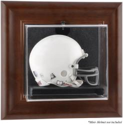 Brown Framed Wall Mounted Mini Helmet Case