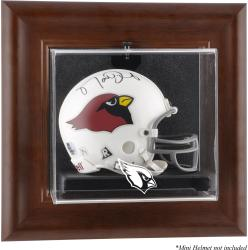 Arizona Cardinals Mini Helmet Display Case - Brown - Mounted Memories