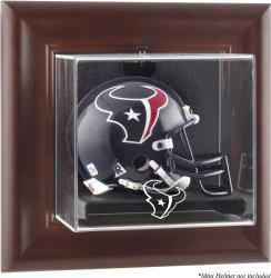 Houston Texans Brown Frame Mini Helmet Display Case - Mounted Memories