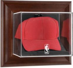 NBA Logo Brown Framed Wall Mounted Cap Display Case