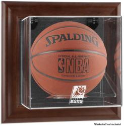 Phoenix Suns Brown Framed Wall-Mounted Team Logo Basketball Display Case - Mounted Memories
