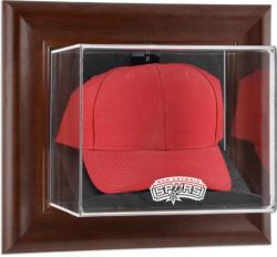 San Antonio Spurs Team Logo Brown Framed Wall-Mounted Cap Case
